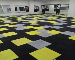 fitness salonu kauçuk zemin kaplama